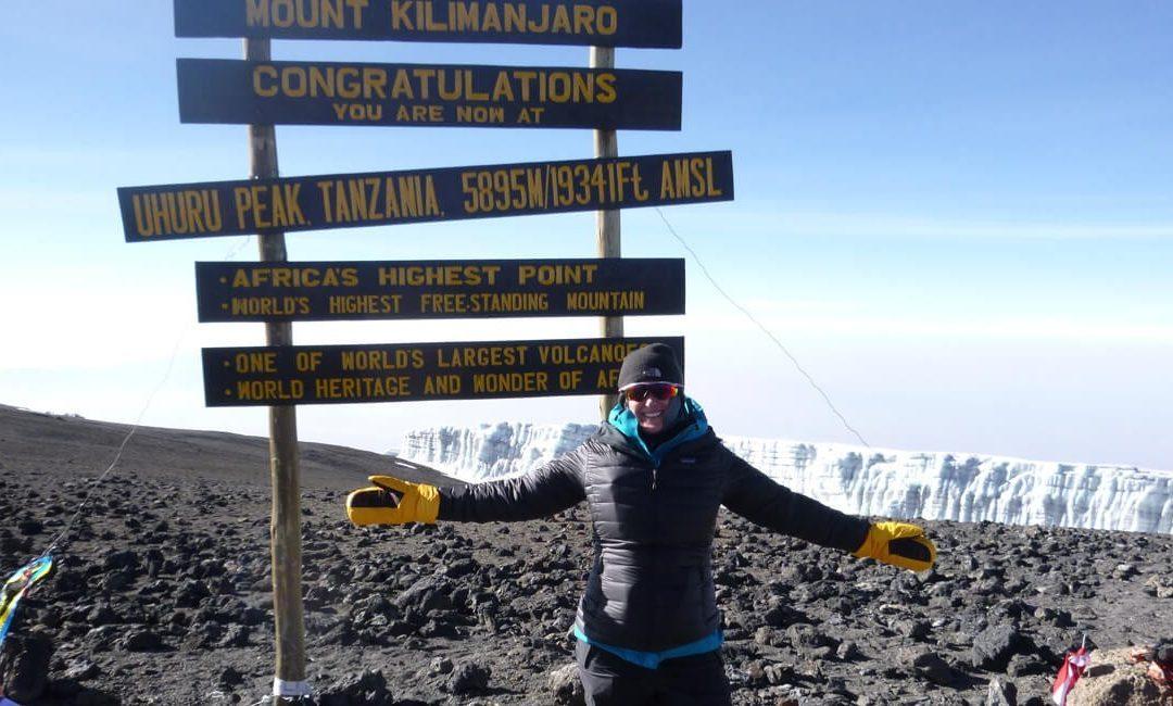 Simone Knego climbing the Mount  Kilimanjaro