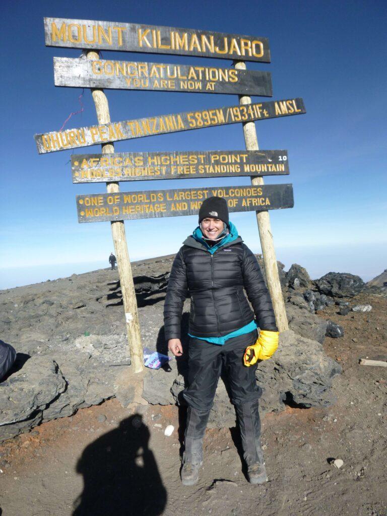 Simone at the Mount Kilimanjaro